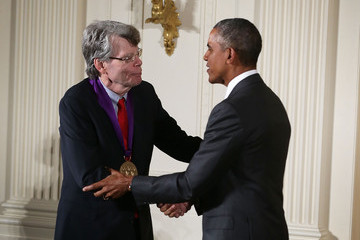 Stephen King Obama Presents National Medal of Arts and National Humanities Medal at White House