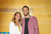 Sonya Curry and Stephen Curry pose for a photo on the red carpet at 16th Street Station on April 1, 2019 in Oakland, California.