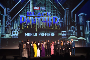 Sterling K. Brown Chadwick Boseman The Los Angeles World Premiere of Marvel Studios' 'Black Panther'