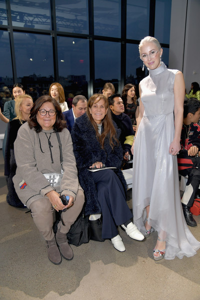 Burnett - Front Row - February 2019 - New York Fashion Week: The Shows [shows,fashion,event,fashion design,haute couture,fashion show,runway,burnett,sterling mcdavid,julie gilhart,fern mallis,burnett - front row,l-r,spring studios,the shows at gallery ii,new york fashion week]