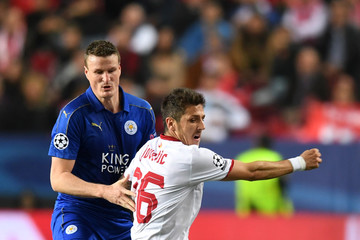 Stevan Jovetic Sevilla FC v Leicester City - UEFA Champions League Round of 16: First Leg