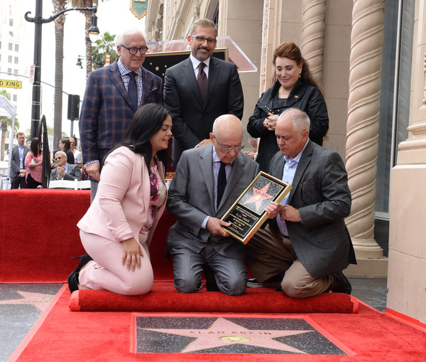 Alan Arkin Honored With A Star On The Hollywood Walk Of Fame [alan arkin honored with a star on the hollywood walk of fame,carpet,event,flooring,recreation,sitting,tourism,leisure,vin di bona,donelle dadigan,alan arkin,ceo,steve carell,hollywood,hollywood chamber of commerce,board,the hollywood chamber of commerce rana ghadban]