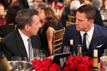 Steve Carell Channing Tatum Backstage at the 18th Annual Hollywood Film Awards