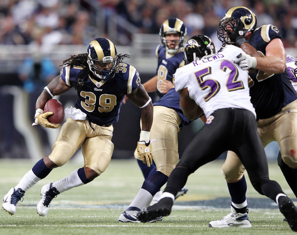 Steven Jackson Steven Jackson #39 of the St. Louis Rams carries the ball upfield during the game against the Baltimore Ravens on September 25, 2011 at the Edward Jones Dome in St Louis, Missouri.