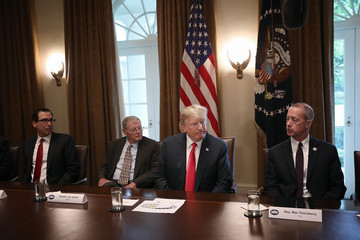 Steven Mnuchin President Trump Meets With Congressional Leaders On Immigration In The Oval Office