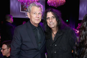 David Foster and Alice Cooper attend Steven Tyler?s Second Annual GRAMMY Awards Viewing Party to benefit Janie?s Fund presented by Live Nation at Raleigh Studios on February 10, 2019 in Los Angeles, California. at Raleigh Studios on February 10, 2019 in Los Angeles, California.