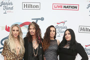 Aimee Preston, Steven Tyler, Chelsea Tyler and Mia Tyler attend Steven Tyler?s Second Annual GRAMMY Awards Viewing Party to benefit Janie?s Fund presented by Live Nation at Raleigh Studios on February 10, 2019 in Los Angeles, California.