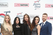 Aimee Preston, Mia Tyler, Steven Tyler, Chelsea Tyler and Jon Foster attend Steven Tyler?s Second Annual GRAMMY Awards Viewing Party to benefit Janie?s Fund presented by Live Nation at Raleigh Studios on February 10, 2019 in Los Angeles, California.