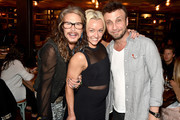 """(Exclusive Coverage) Steven Tyler, here with Summer Kath and manager Larry Rudolph, hosts VIP """"Out On A Limb"""" dinner at Catch on April 30, 2016 in New York City prior to his May 2, 2016 Lincoln Center """"Out On A Limb"""" Concert benefiting his charity """"Janie's Fund"""""""