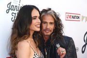 Chelsea Tyler (L) and Steven Tyler at Steven Tyler and Live Nation presents Inaugural Janie's Fund Gala & GRAMMY Viewing Party at Red Studios on January 28, 2018 in Los Angeles, California.
