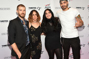 Jon Foster, Chelsea Tyler, Mia Tyler and a guest attend the Steven Tyler...Out On A Limb Benefit Concert on May 02, 2016 in New York, New York.