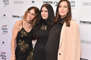 """(L-R) Chelsea Tyler, Mia Tyler, Liv Tyler attend """"Steven Tyler...Out on a Limb"""" Show to Benefit Janie's Fund in Collaboration with Youth Villages - Red Carpet at David Geffen Hall on May 2, 2016 in New York City."""
