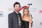(L-R) Beau Clark and Stassi Schroeder arrive at Steven Tyler's Third Annual Grammy Awards Viewing Party to benefit Janie's Fund presented by Live Nation at Raleigh Studios on January 26, 2020 in Los Angeles, California.