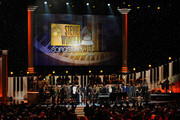 Attendees including honoree Stevie Wonder, recording artists Beyonce, John Legend, Lady Gaga, Jason Derulo, Annie Lennox, Gladys Knight, Ariana Grande, The Band Perry members Neil Perry, Kimberly Perry and Reid Perry, actress Maya Rudolph, actor Jamie Foxx and more perform onstage during Stevie Wonder: Songs In The Key Of Life - An All-Star GRAMMY Salute at Nokia Theatre L.A. Live on February 10, 2015 in Los Angeles, California.