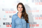 Lucy Pinder attends a photocall for 'We Still Kill The Old Way' at Ham Yard Hotel on September 29, 2014 in London, England.