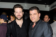 Actor Jason Sudeikis and journalist Tom Murro attends the Tribeca Film Festival after-party for A Good Old Fashioned Orgy hosted by Stolichnaya Vodka at Liberty Hall at Ace Hotel on April 29, 2011 in New York City.