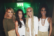 "Karis Anderson, Michelle Heaton, Courtney Rumbold and Alexandra Buggs at the Stooshe x Sennheiser party to launch the new Stooshe single ""Lock Down"" on October 21, 2015 in London, England."