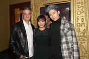 (L-R) Ross Partridge, Karen Fukuhara and Miyavi attend the Stray World Premiere on February 25, 2019 in Los Angeles, California.