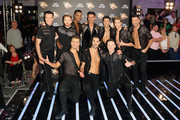 (L-R) Anton Du Beke, Neil Jones, Johannes Radebe, Aljaz Skorjanec, Gorka Marquez, AJ Pritchard, Giovanni Pernice, Pasha Kovalev, Graziano Di Prima and Kevin Clifton attend the red carpet launch for 'Strictly Come Dancing 2018' at Old Broadcasting House on August 27, 2018 in London, England.
