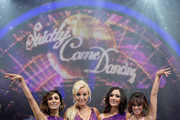BIRMINGHAM, ENGLand - JANUARY 21:  GEORGIA MAY FOOTE; ANITA RANI, HELEN GEORGE; Frankie Bridges pose during Photocall for the Strictly Come Dancing Live Tour 2016 at Barclaycard Arena on January 21, 2016 in Birmingham, England.