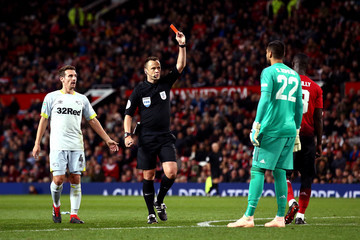 Stuart Attwell Manchester United v Derby County - Carabao Cup Third Round