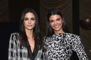 Sofia Resing (L) and Pamela Lima attend the Stuart Weitzman FW18 Presentation and Cocktail Party at The Pool on February 8, 2018 in New York City.