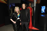 """Edward Tricomi and Sandy Linter  attend """"Studio 54: Night Magic"""" Opening Night at the Brooklyn Museum on March 11, 2020 in Brooklyn, New York."""