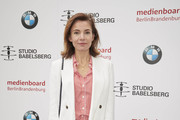 Nadine Warmuth attends the Studio Babelsberg Brunch on the occasion of the German Film Award at Zollpackhof Biergarten on May 04, 2019 in Berlin, Germany.