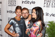 (L to R) Actress Jill Hennessy, director Ed Gass-Donnelly, and actress Jacqueline Hennessy arrive at the In Style HFPA Party during the 35th Toronto International Film Festival at Windsor Arms Hotel on September 14, 2010 in Toronto, Canada.