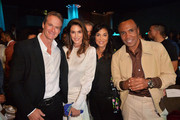 (L-R) Rande Gerber, Cindy Crawford, Bernadette Leonard and Sugar Ray Leonard attend Sugar Ray Leonard Foundation's 10th Annual 'Big Fighters, Big Cause' Charity Boxing Night Presented by B. Riley FBR at The Beverly Hilton Hotel on May 22, 2019 in Beverly Hills, California.