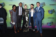 (L-R) Actors Viola Davis, Will Smith, Margot Robbie, Jared Leto and Joel Kinnaman attend the Suicide Squad premiere sponsored by Carrera at Beacon Theatre on August 1, 2016 in New York City.