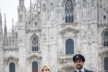 Suki Waterhouse British Airways Brings Fashion Royalty Suki Waterhouse And David Gandy To Milan, Italy