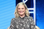 "Executive Producer Amy Poehler of the television show ""I Feel Bad"" speaks during the NBC segment of the Television Critics Association Press Tour at the Beverly Hilton Hotel on August 8, 2018 in Beverly Hills, California."