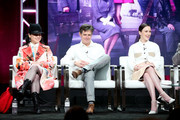 (L-R) Creator/Executive Producer Amy Sherman-Palladino, Executive Producer Daniel Palladino, and actor Rachel Brosnahan of 'The Marvelous Mrs. Maisel' speak onstage during the Amazon Studios portion of the Summer 2018 TCA Press Tour at The Beverly Hilton Hotel on July 28, 2018 in Beverly Hills, California.