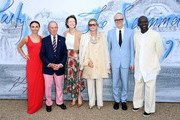 (L-R) Georgina Bloomberg, Michael Bloomberg, Diana Taylor, Lady Elena Foster, Hans-Ulrich Obrist and Sir David Adjaye attend The Summer Party 2019, Presented By Serpentine Galleries And Chanel, at The Serpentine Gallery on June 25, 2019 in London, England.