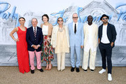 (L-R) Georgina Bloomberg, Michael Bloomberg, Diana Taylor, Lady Elena Foster, Hans-Ulrich Obrist, Sir David Adjaye and JR attend The Summer Party 2019, Presented By Serpentine Galleries And Chanel, at The Serpentine Gallery on June 25, 2019 in London, England.