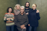 """(L-R) Actors Rhea Perlman, Blythe Danner, Sam Elliott, Martin Starr, and Malin Akerman of """"I'll See You in My Dreams"""" pose for a portrait at the Village at the Lift Presented by McDonald's McCafe during the 2015 Sundance Film Festival on January 27, 2015 in Park City, Utah."""