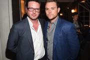 Actor Aden Young (L) and actor Clayne Crawford attend the after party for SundanceTV's 'Rectify' Season Two at the Chateau Marmont on June 16, 2014 in Los Angeles, California.