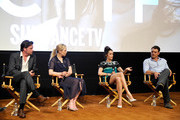 (L-R)  ActorsÊAden Young, Adelaide Clemens, Abigail Spencer and Clayne Crawford speak SundanceTV's presentation of Panel Discussions featuring creators and stars of 'Rectify' and 'The Honorable Woman' on May 16, 2015 in Los Angeles, California.