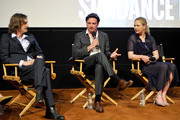 (L-R)  Ray McKinnon, Creator/Writer/Executive Producer of ÒRectifyÓ, ActorsÊAden Young and Adelaide Clemens speak at SundanceTV's presentation of Panel Discussions featuring creators and stars of 'Rectify' and 'The Honorable Woman' on May 16, 2015 in Los Angeles, California.