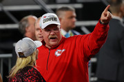 Head coach Andy Reid of the Kansas City Chiefs  celebrates  after defeating San Francisco 49ers by 31 - 20in Super Bowl LIV at Hard Rock Stadium on February 02, 2020 in Miami, Florida.