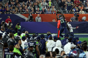 Chris Matthews #13 of the Seattle Seahawks makes a catch against  Kyle Arrington #25 of the New England Patriots in the second half during Super Bowl XLIX at University of Phoenix Stadium on February 1, 2015 in Glendale, Arizona.