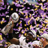 Ed Reed Photos - Ed Reed #20 of the Baltimore Ravens holds up the Vince Lombardi Trophy following their 34-31 win against the San Francisco 49ers during Super Bowl XLVII at the Mercedes-Benz Superdome on February 3, 2013 in New Orleans, Louisiana. - Super Bowl XLVII - Baltimore Ravens v San Francisco 49ers