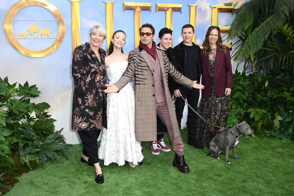 """""""Dolittle"""" Special Screening - Red Carpet Arrivals [event,fashion,ceremony,lawn,sporting group,formal wear,fawn,wedding,family,canidae,red carpet arrivals,susan downey,harry collett,robert downey jr,carmel laniado,emma thompson,tom holland,dolittle special screening,l-r,screening,tom holland,susan downey,carmel laniado,emma thompson,dolittle,robert downey jr.,cineworld cinema - london leicester square,premiere,harry collett,onward]"""
