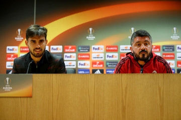 Suso A.C. Milan Training And Press Conference