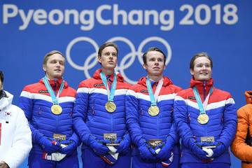 Sverre Lunde Pedersen Medal Ceremony - Winter Olympics Day 13