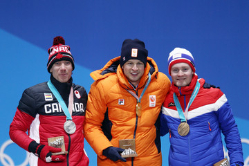 Sverre Lunde Pedersen Medal Ceremony - Winter Olympics Day 3