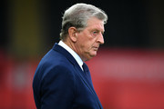 Roy Hodgson, Manager of Crystal Palace looks on prior to the Carabao Cup Second Round match between Swansea City and Crystal Palace at Liberty Stadium on August 28, 2018 in Swansea, Wales.