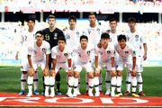 The Korea Republic team pose for a team photo prior to the 2018 FIFA World Cup Russia group F match between Sweden and Korea Republic at Nizhniy Novgorod Stadium on June 18, 2018 in Nizhniy Novgorod, Russia.
