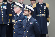 Prince Carl Philip, Duke of Varmland attends the celebration of King Carl Gustav's 72nd birthday anniversary at the Royal Palace on April 30, 2018 in Stockholm, Sweden.